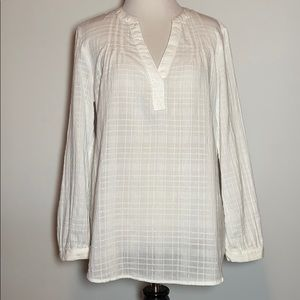 Old Navy White Pop-Over Top, Size M, NWT